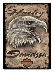 Harley-Davidson Rugged Eagle Card Embossed Tin Sign, 12.5 x 17 inches 2011391 - Wisconsin Harley-Davidson