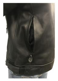 Redline Men's Racing Body Armor Premium Jacket, Two-Tone Cow Leather M-RBR - Wisconsin Harley-Davidson