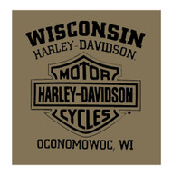 Harley-Davidson Men's Predator Eagle Short Sleeve Crew T-Shirt, Fatigue Green - Wisconsin Harley-Davidson