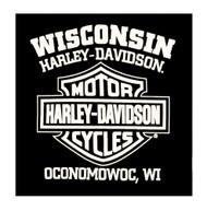 Harley-Davidson Men's Commander Wing Bar & Shield Long Sleeve Shirt, Black - Wisconsin Harley-Davidson
