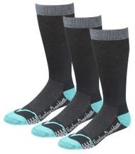 Harley-Davidson Women's CoolMax Performance Rider Socks (Teal, Med), 3 Pairs - Wisconsin Harley-Davidson
