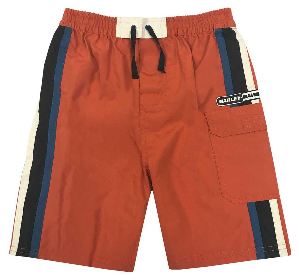 f709cf4d84 Harley-Davidson® Big Boys' Striped Swim Trunks w/ Mesh Lining ...