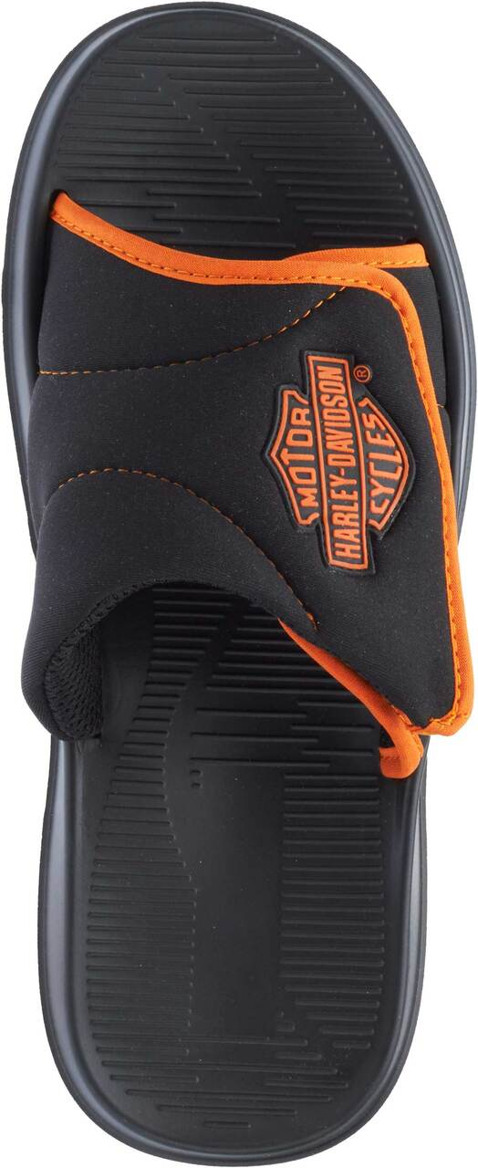 4f8872c09 Harley-Davidson® Men s Reyes Black and Orange Bar   Shield Sandals ...
