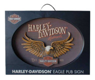 Harley-Davidson Sculpted Eagle Oval 3D Pub Sign, 22 x 16 inches HDL-15317 - Wisconsin Harley-Davidson