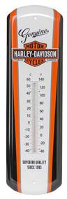 Harley-Davidson Nostalgic Bar & Shield Tin Thermometer, 5 x 17 inch HDL-10089 - Wisconsin Harley-Davidson