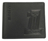 Harley-Davidson Men's Embossed #1 Logo Leather Billfold Wallet XML3851-BLACK - Wisconsin Harley-Davidson