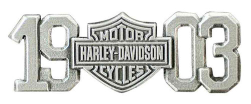 Harley-Davidson 1903 Bar & Shield Pin, Antiqued & Polished Silver Finish P238063 - Wisconsin Harley-Davidson