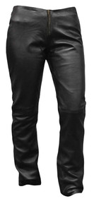 Redline Women's Hip Hugger Light-Weight Riding Leather Pants, Black L-3500 - Wisconsin Harley-Davidson