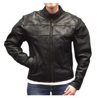 Redline Women's Mid-Weight Reflective Leather Motorcycle Jacket, Black L-3200 - Wisconsin Harley-Davidson