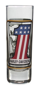 Harley-Davidson Double Sided Vintage RWB #1 Tall Shot Glass, 2.5 oz. SG22799 - Wisconsin Harley-Davidson