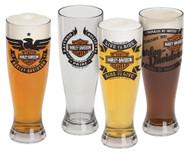 Harley-Davidson Bar & Shield Acrylic Pilsner Glasses Set, 22 oz. HDL-18775 - Wisconsin Harley-Davidson