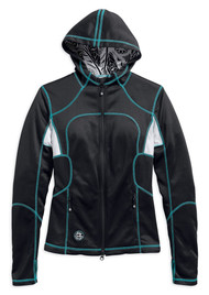 Harley-Davidson Women's Parkway Wicking Mid-Layer Jacket, Black 97426-17VW - Wisconsin Harley-Davidson