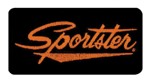 Harley-Davidson Embroidered Sportster Emblem Patch, Small 4 x 2 in. EMB062643 - Wisconsin Harley-Davidson