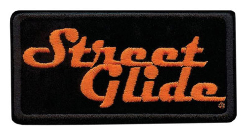 Harley-Davidson Embroidered Street Glide Emblem Patch, Small 4 x 2 in. EM647062 - Wisconsin Harley-Davidson