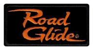 Harley-Davidson Embroidered Road Glide Emblem Patch, Small 4 x 2 in. EM1056642 - Wisconsin Harley-Davidson