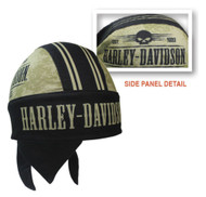 Harley-Davidson Men's Grunge Skull H-D Head Wrap, Black & Khaki HW22212 - Wisconsin Harley-Davidson