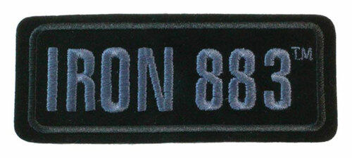 Harley-Davidson Embroidered Iron 883 Emblem Patch, SM 4.125 x 1.75 in EM187802 - Wisconsin Harley-Davidson