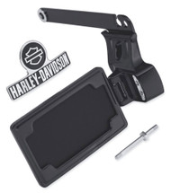Harley-Davidson Side-Mount License Plate Kit - Black, Fits Dyna Models 60978-10 - Wisconsin Harley-Davidson