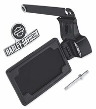 Harley-Davidson Side-Mount License Plate Kit - Black, Fits Dyna Models 60978-10 - Wisconsin Harley-Davidson