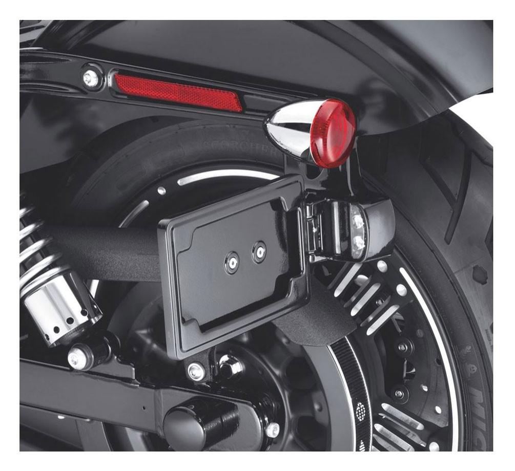 Harley-Davidson® Side-Mount License Plate Kit - Black, Fits Dyna Models  60978-10