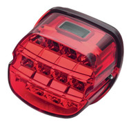Harley-Davidson Layback LED Tail Lamp, Red Lens, Fits XL Models 67800355 - Wisconsin Harley-Davidson