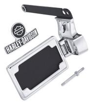 Harley-Davidson Side-Mount License Plate Kit - Chrome, Fits Dyna Models 60938-10 - Wisconsin Harley-Davidson