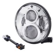 Harley-Davidson 7 in Daymaker Projector LED Headlamp - Chrome Finish 67700265 - Wisconsin Harley-Davidson