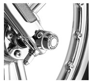 Harley-Davidson Motor Co. Front Axle Nut Cover Kit - Chrome Finish 43864-96 - Wisconsin Harley-Davidson