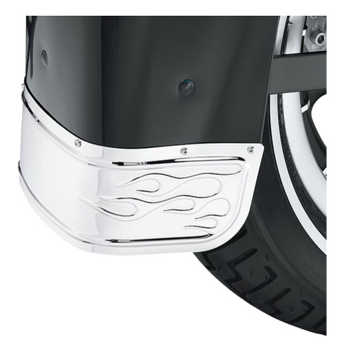 Harley-Davidson Flames Fender Skirt - Chrome, Fits Softail Models 60179-06 - Wisconsin Harley-Davidson