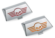 Harley-Davidson Fender Tip Lens Kit w/ Skull Logo -Chrome-Plated Finish 59651-01 - Wisconsin Harley-Davidson