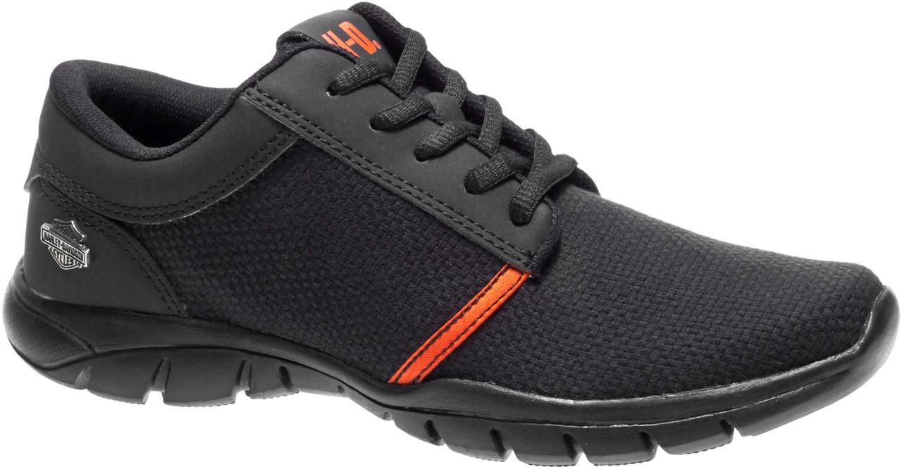 8daf17a0fd3d Harley-Davidson Women s Jenkins Soft Low-Top Sneakers D84087 (Black Orange