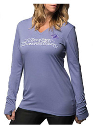 Harley-Davidson Women's Performance All Polished Shirt, Purple 5J0J-HE3L - Wisconsin Harley-Davidson