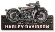 Harley-Davidson Wooden Vintage Iron Motorcycle Silhouette Sign, Black CU-VI-HARL - Wisconsin Harley-Davidson
