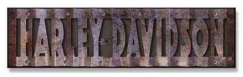 Harley-Davidson Cut-Out Corrugated Wood/Metal Sign Hardboard CU107-COR-HD-HARL - Wisconsin Harley-Davidson