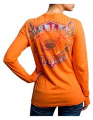 Harley-Davidson Women's Braking Properly Long Sleeve V-Neck Shirt 5U15-HD07 - Wisconsin Harley-Davidson