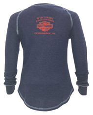 Harley-Davidson Women's Lionize Style Long Sleeve Raglan Thermal Shirt 5N25-HD09 - Wisconsin Harley-Davidson