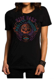 Harley-Davidson Women's Level Disturbance Short Sleeve Crew Shirt 5J27-HC9R - Wisconsin Harley-Davidson