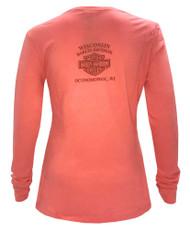 Harley-Davidson Women's Fast Freak Long Sleeve Scoop Neck Shirt, Pink 5Q27-HD04 - Wisconsin Harley-Davidson