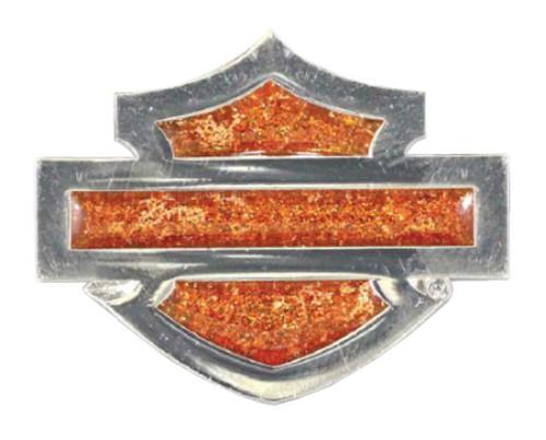 Harley-Davidson Stained Glass & Glitter Blank Bar & Shield Pin, Silver P1144382 - Wisconsin Harley-Davidson