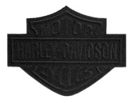 Harley-Davidson Black Bar & Shield Emblem Patch, LG 8 x 6.25 inch EM302304 - Wisconsin Harley-Davidson