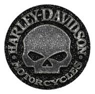 Harley-Davidson Gravel Willie G Skull Round Mouse Pad, Black Neoprene MO104875 - Wisconsin Harley-Davidson