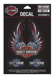 Harley-Davidson Bliss Winged Bar & Shield Decals, SM 3.875 x 4.25 in DC245813 - Wisconsin Harley-Davidson
