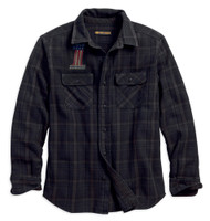 Harley-Davidson Men's Over-Dyed Plaid Slim Fit Long Sleeve Shirt 99011-18VM - Wisconsin Harley-Davidson