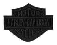 Harley-Davidson Black Bar & Shield Emblem Patch, SM 4 x 3.125 inch EM302302 - Wisconsin Harley-Davidson
