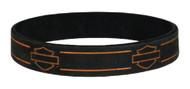 Harley-Davidson Debossed Blank Bar & Shield Silicone Wristband, Black WB114464 - Wisconsin Harley-Davidson