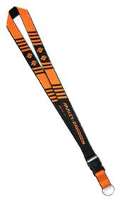 Harley-Davidson H-D Break Striped Bar & Shield Lanyard, Orange & Black LY25766 - Wisconsin Harley-Davidson