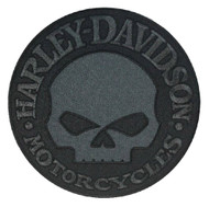 Harley-Davidson Black Willie G Skull Emblem Patch, LG 8 x 8 inch EM1048804 - Wisconsin Harley-Davidson