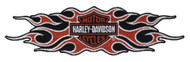 Harley-Davidson Woven Flame Bar & Shield Emblem Patch, LG 9 x 2.25 in EM419664 - Wisconsin Harley-Davidson