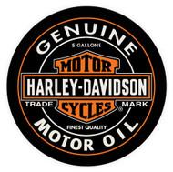 Harley-Davidson Oil Can Bar & Shield Round Cafe Table, Black Finish HDL-12316 - Wisconsin Harley-Davidson