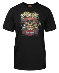 7d2fe5c8ef5 Harley-Davidson® Men s Guns N  Roses Rage Top Hat Skull Long Sleeve ...